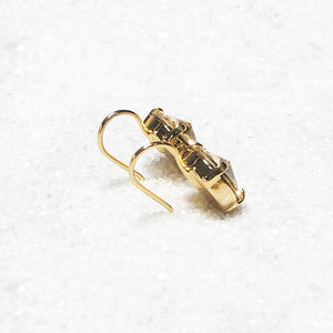 gold crystal drop hook earrings online