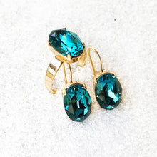 ethical unique gold and turquoise swarovski elements jewellery australia
