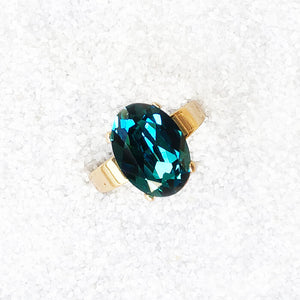 elegant  cocktail ring australia  indicolite turquoise and gold