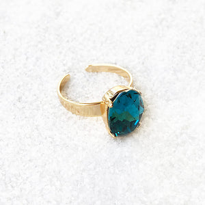 unique ethical ring australia indicolite turquoise and gold