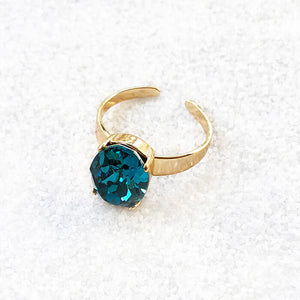 beautiful gold fashion ring indicolite turquoise