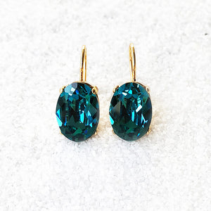 elegant chic drop earrings turquoise and gold