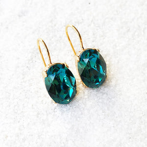 unique drop earrings australia gold and turquoise crystal