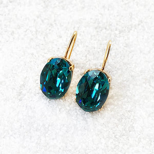 unique gold and turquoise crystal drop earrings australia