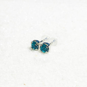 blue stud earrings for kids silicone closures