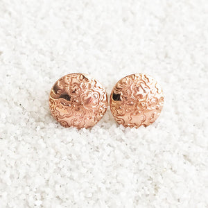versatile patterned ethical stud earrings in rose gold