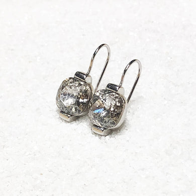 silver crystal drop earrings australia swarovski