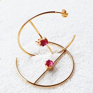 Trixie Swarovski Hoop Earrings