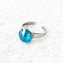 ethical azure blue and silver fashion ring