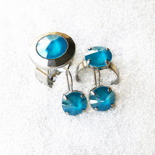 ethical jewellery online unique silver and azure blue swarovski