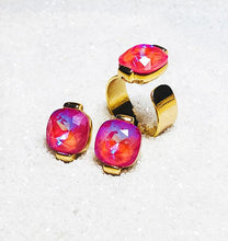 pink swarovski and gold - australian ethical jewellery