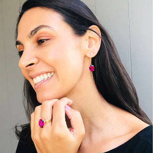 australian ethical jewellery gold and pink swarovski ekements
