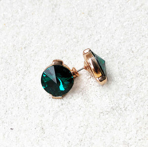 emerald green stud earrings australia ethical jewellery