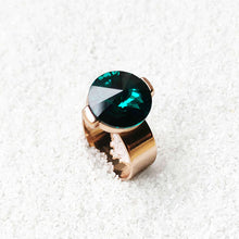 elegant emerald adjustable statement ring rose gold ethical jewellery