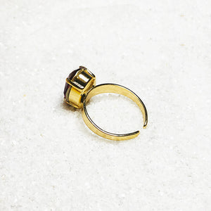 adjustable statement ring gold