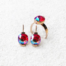 ethical swarovski jewellery australia in siam pink and rose gold