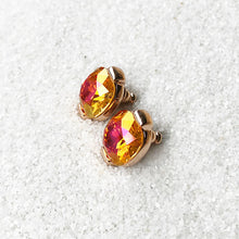 elegant astral pink sparkly stud earrings australia ethical jewellery