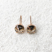 rose gold crystal drop earrings australia sparkly jewellery