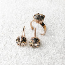 rose gold patina swarovski statement ring australia ethical jewellery