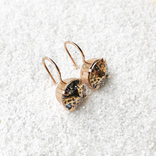 sparkly rose gold crystal drop earrings elegant jewellery