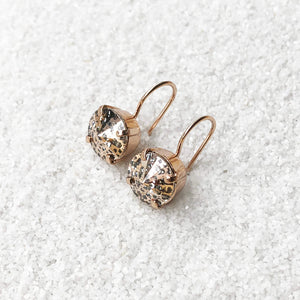ethical rose gold crystal earrings unique jewellery