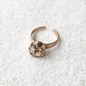 rose gold on rose gold elegant cocktail ring