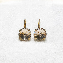 gold crystal drop earrings australia