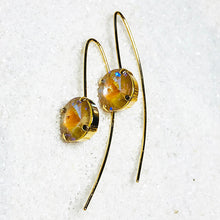 Passion Gold Crystal Drop Earrings