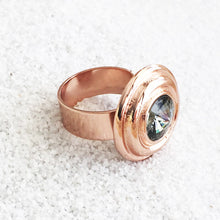 rose gold and black diamond swarovski ethical statement ring