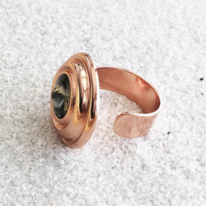 rose gold and black diamond swarovski statement ring band details