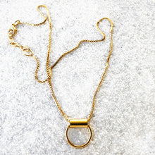 gold elegant pendant with lobster claw closure
