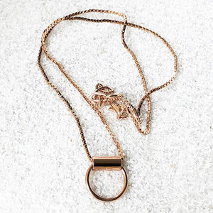 rose gold elegant pendant with lobster claw closure