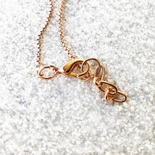lobster claw closure rose gold