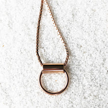 ethical rose gold minimalist pendant