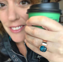 kate toon  in bidiliia jewellery wearing sea glam statement ring