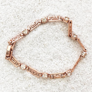 rose gold and crystal elegant versatile ethical bracelet