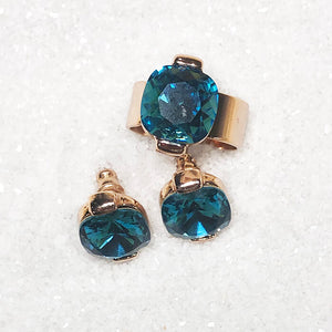 unique jewellery rose gold and turquoise sea glam