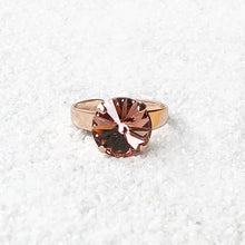 ethical crystal statement ring blush rose and rose gold