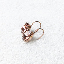 unique ethical earrings blush rose and rose gold
