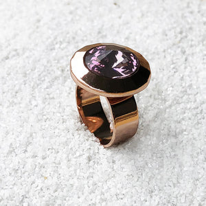 sparkly amethyst statement ring