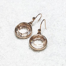 unique rose gold crystal drop earrings australia
