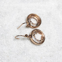 unique rose gold crystal drop earrings online
