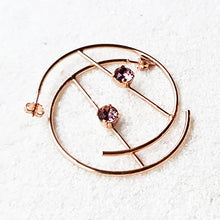 Iris Swarovski Hoop Earrings