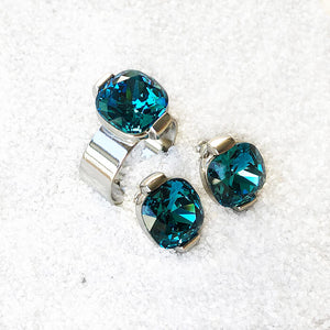 affordable unique silver and turquoise swarovski jewellery online ethical jewellery brand