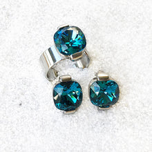 unique rhodium silver and turquoise swarovski ethical jewellery online