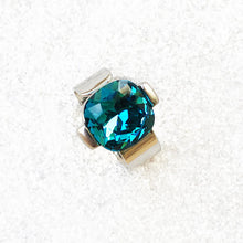 affordable statement ring online in silver and turquoise