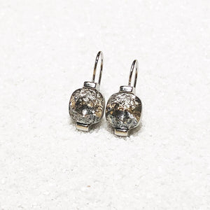 unique silver crystal drop earrings australia