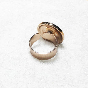 unique adjustable statement rings rose gold