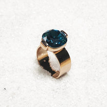 elegant statement ring indicolite rose gold sea glam