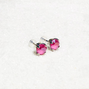 sparkly pink stud earrings for kids online